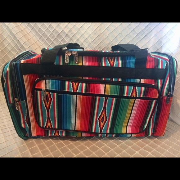 918916b60fc9 Bags | Nwt Colorful Serape Large Duffle Bag | Poshmark